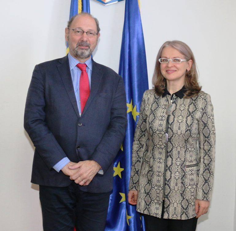 Întâlnirea președintei Comisiei pentru Afaceri Europene, Gabriela Crețu, cu profesorul Richard Sakwa, Universitatea din Kent