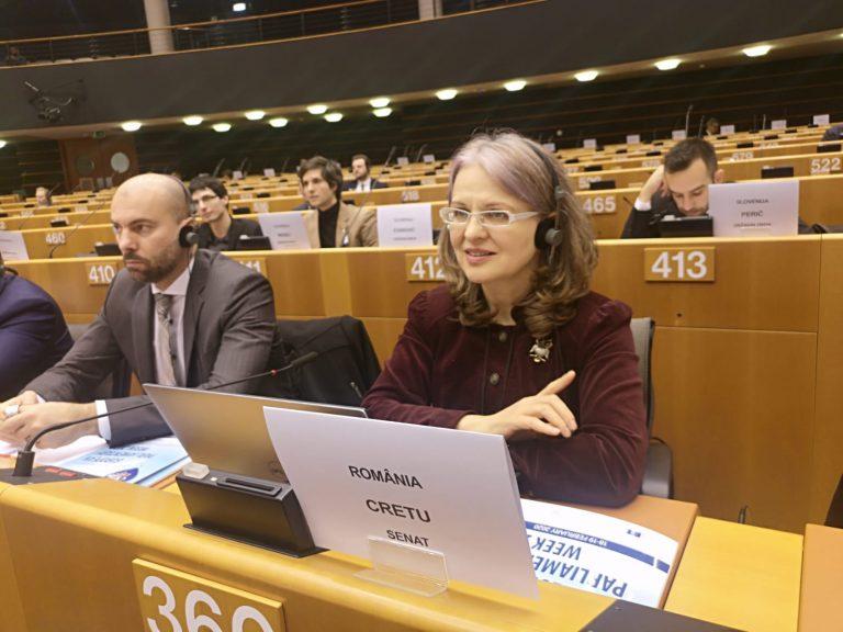 """Gabriela Crețu, la Conferința Semestrul European: """"Euro este o monedă bazată pe încredere și o putem face mai puternică la nivel global numai dacă acționăm pentru a păstra încrederea atât în Uniune, cât și în Euro!"""""""